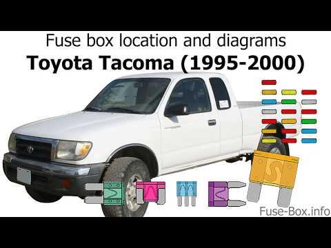 Fuse box location and diagrams: Toyota Tacoma (1995-2000) - YouTubeYouTube