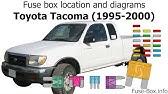 Fuse Box Location And Diagrams Toyota Tacoma 2001 2004 Youtube