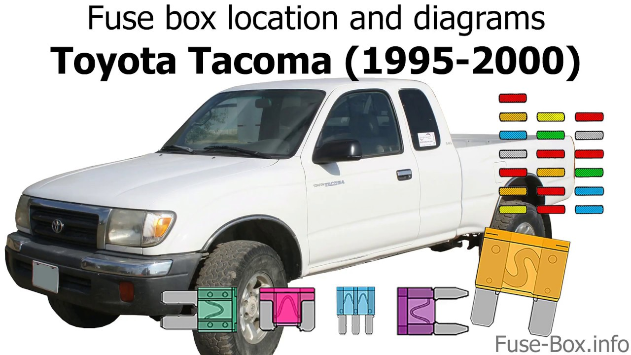 Fuse Box Location And Diagrams Toyota Tacoma 1995 2000 Youtube