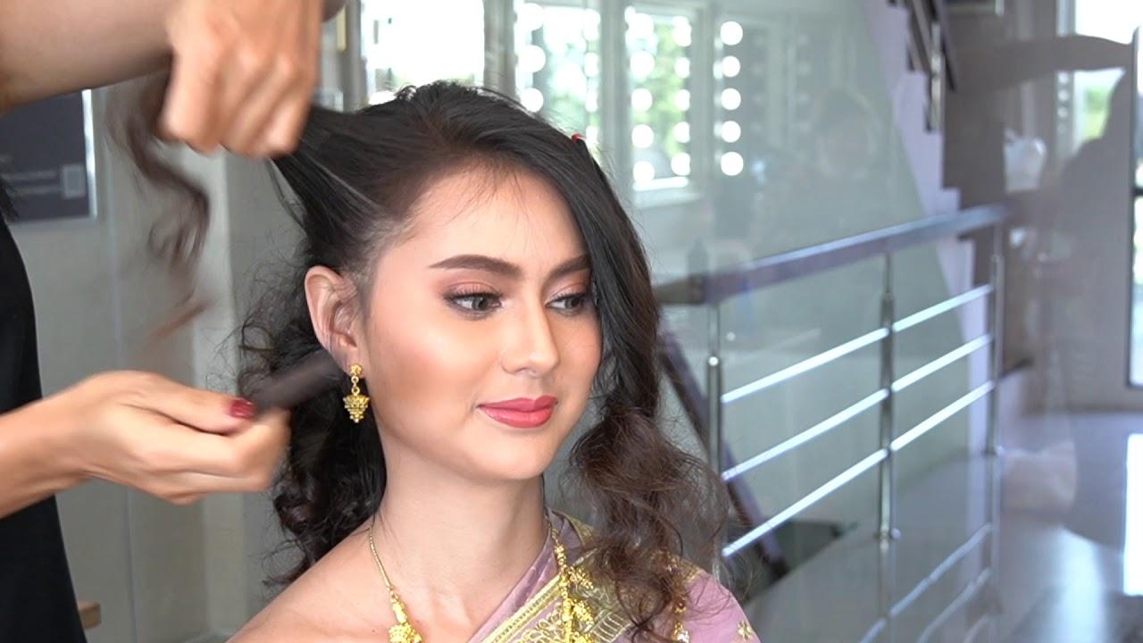 Easy And Simple Hair Bun Updo เกล้าผมเจ้าสาวชุดไทยแบบง่ายๆ ด้วยเทคนิคการบิดผม โดย ครูหญิงภัครา