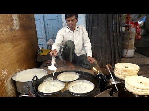 Ghevar Malai | Rare Indian Street Food | نادر الهندي طعام الشارع | Street food planet