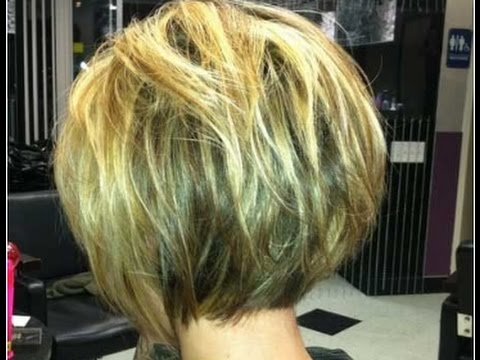 Short Bob Hairstyles For Fine Hair Back View Youtube