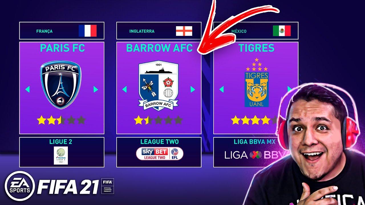 7 MELHORES TIMES para usar no MODO CARREIRA FIFA 21! ??