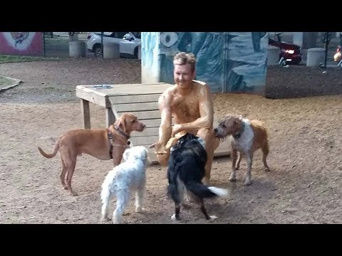 Fred And Angi - Naked Man Visits Dog Park Covered In Peanut Butter After Losing Bet