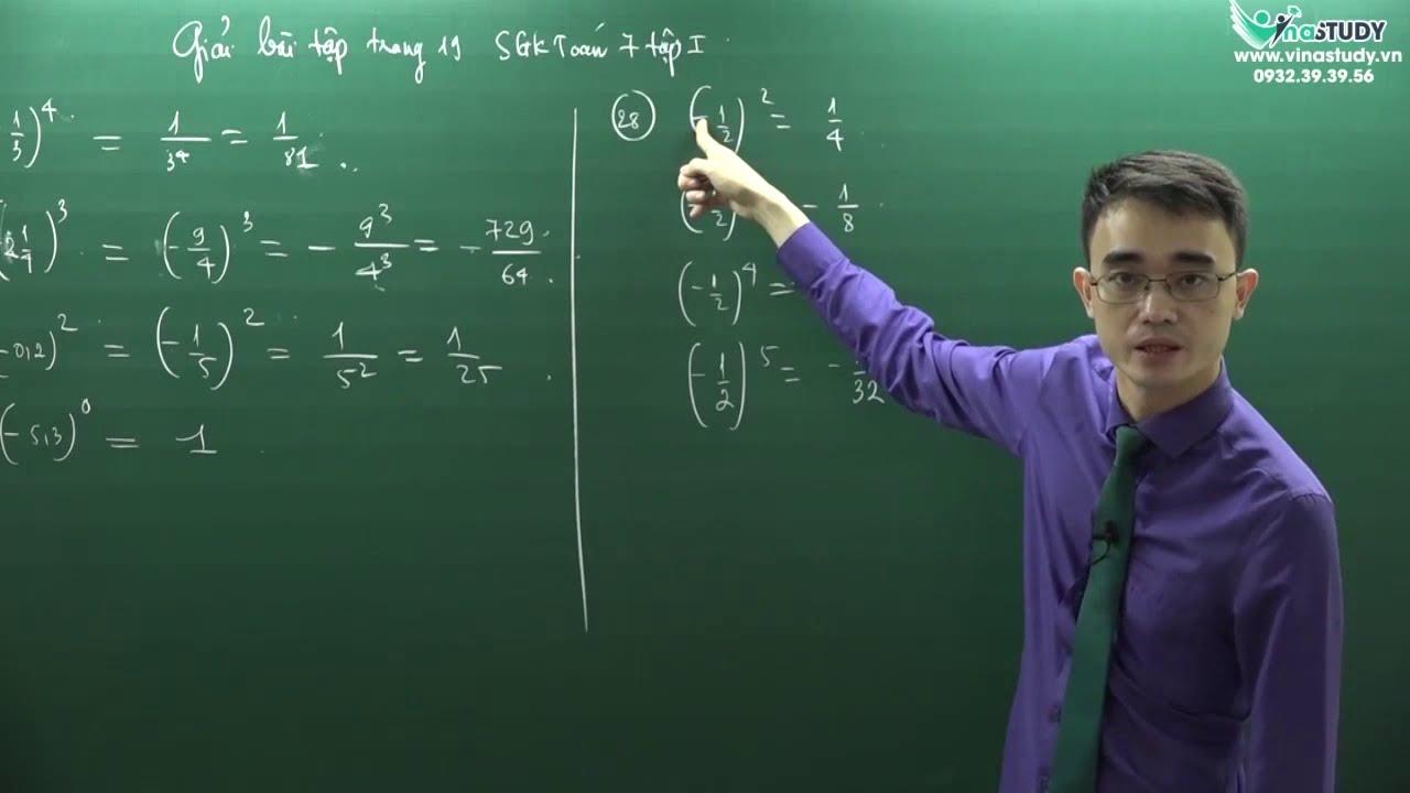 [Toán lớp 7] Giải bài tập trang 19 – Sách giáo khoa toán 7 tập 1