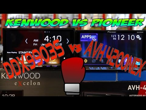 What is the difference between th Pioneer AVH 4200NEX and the Kenwood Exclon DDX9903s