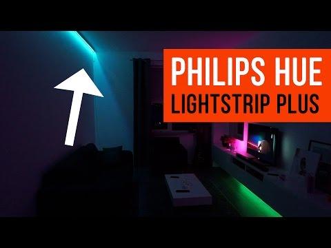 philips hue lightstrip plus english doovi. Black Bedroom Furniture Sets. Home Design Ideas