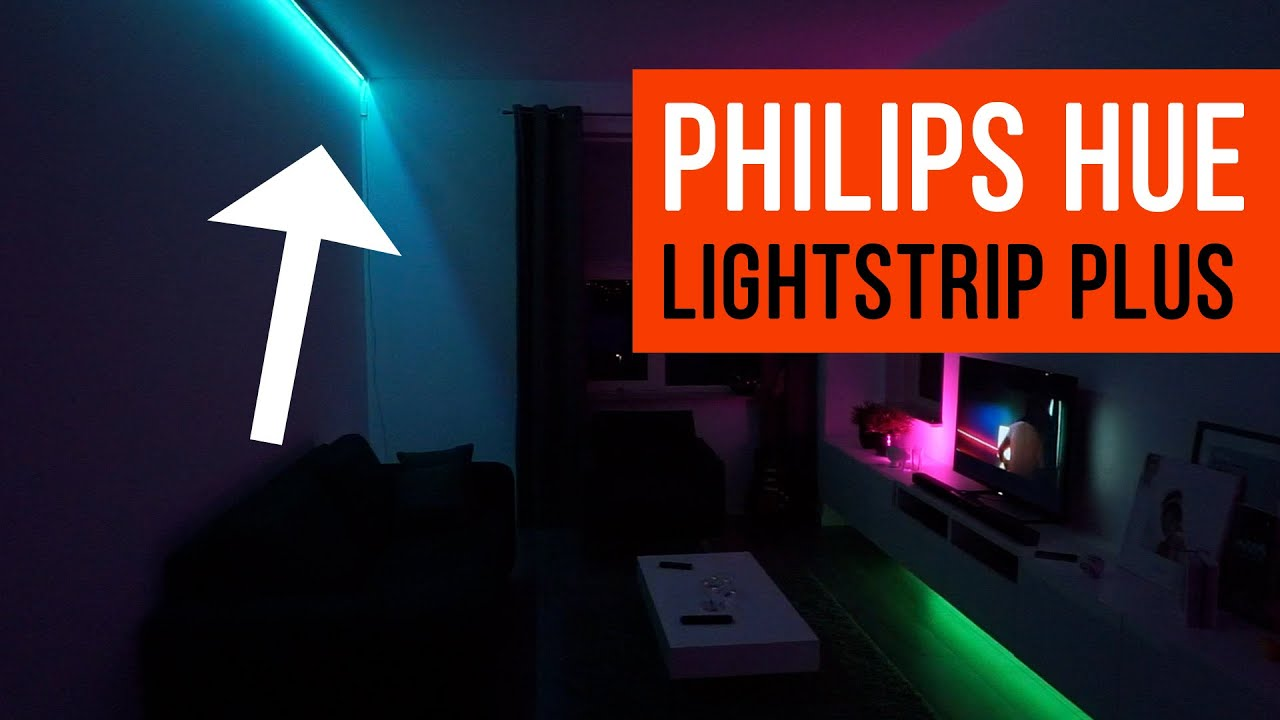 philips hue lightstrip plus livingroom light ideas youtube. Black Bedroom Furniture Sets. Home Design Ideas