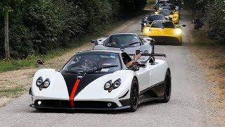 This £20M Pagani Convoy Shut Down The Goodwood Festival of Speed!