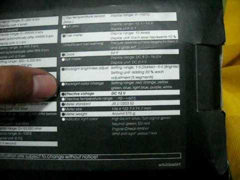 new koso meter for yamaha lc135 unboxing koso uma racingboy gp style meter for yamaha t135 lc 135