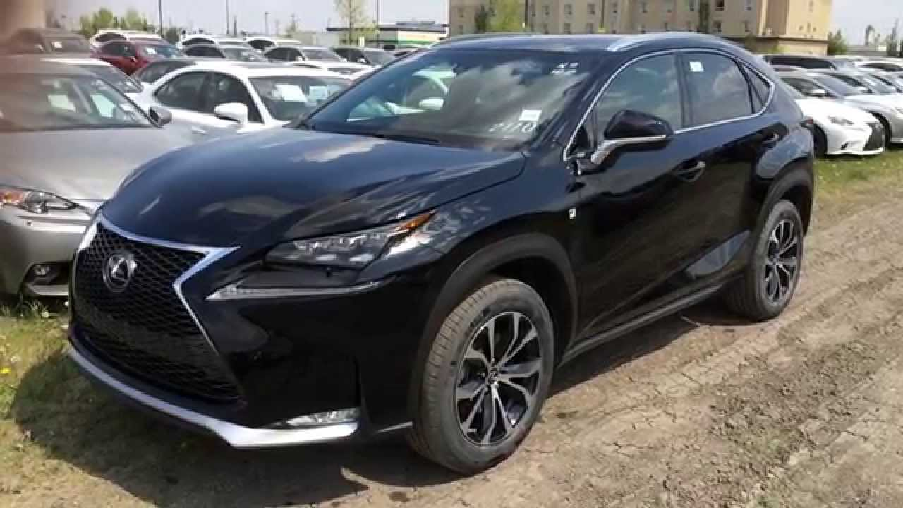 new black on red 2015 lexus nx 200t awd f sport series 2