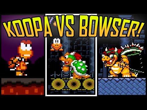 KOOPA TROOPA Vs BOWSER! Super Mario World Rom Hack