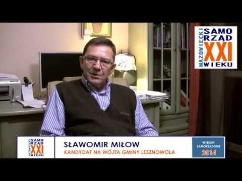 Sławomir Miłow - kandydat na Wójta Gminy Lesznowola - podziękowania za wspólną kampanię wyborczą