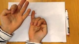 Gange med fingrene