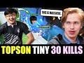 """Topson """"TINY"""" Farming Heroes with MidOne IO CARRY - 30 KILLS NO MERCY!"""