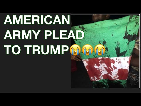 #EndsarsNIGERIAN US ARMY PLEAD WITH TRUMP TO ALLOW THEM TO INVADE NIGERIA