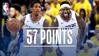 Lou Williams & Montrezl Harrell Come Up BIG Off the Bench! | April 24, 2019