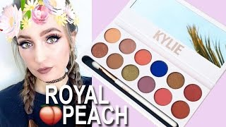 Kylie Cosmetics THE ROYAL PEACH PALETTE Tutorial ♡