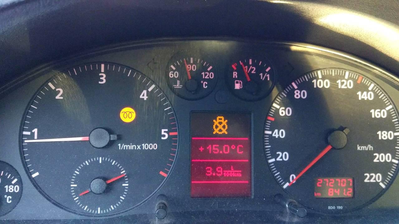 Palą Się Kontrolki Audi A4 B5 Youtube