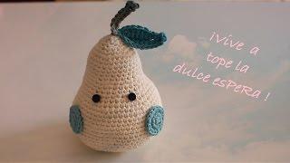 Teje tú primera Pera a Crochet I Amigurumi paso a paso I cucaditasdesaluta