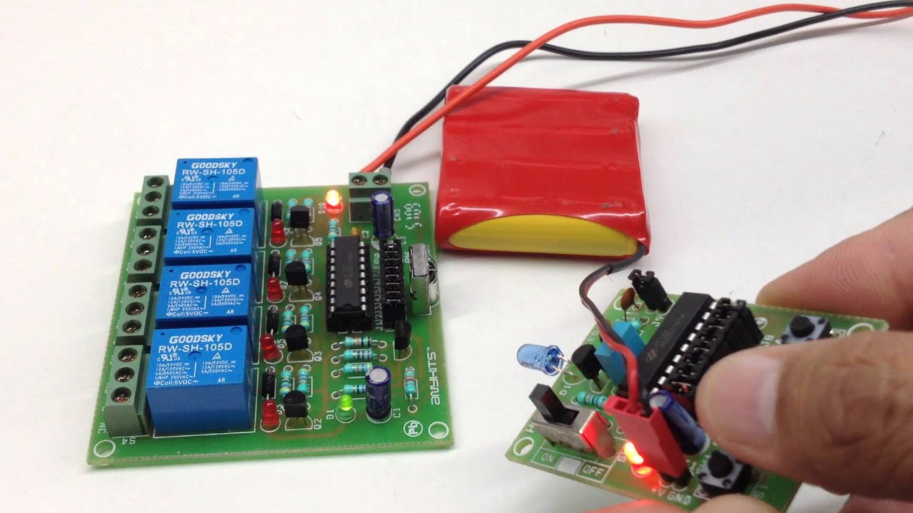 4 channel infrared remote relays - Electronics-Lab