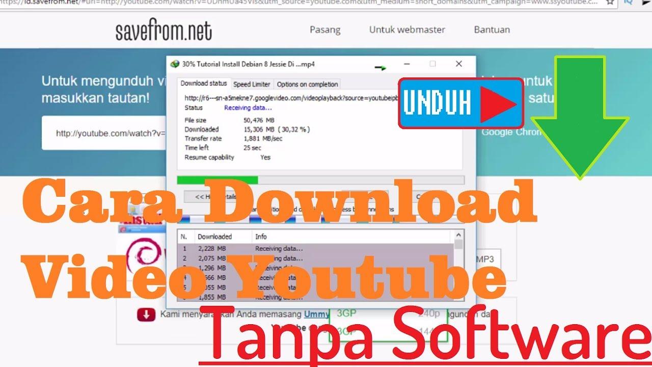 cara download file dari youtube tanpa software