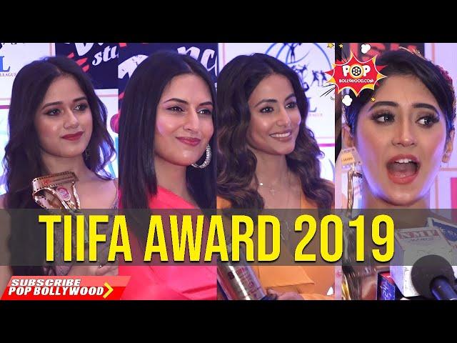 TIIFA AWARD 2019   Jannat Zubair, Mohsin Khan, Shivangi Joshi, Divyanka Tripathi, Hina Khan