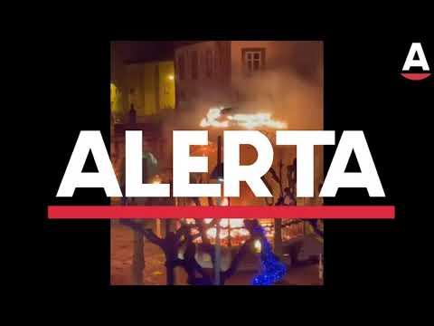 Incendiado el Belén del kiosco de La Barrera de Castro Urdiales