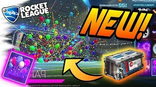 rocket league new goal explosions party time clockwork wheel accelerator crate update opening