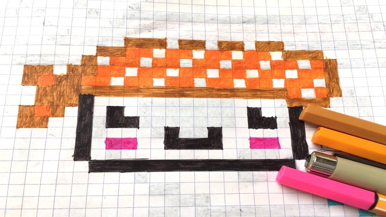 Pixel Art Sushi Kawaii Facile