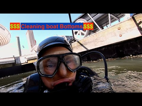 How I make Money Underwater!! Beautiful Bottoms Boat Cleaning