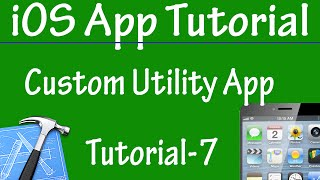 Free iPhone iPad Application Development Tutorial 7 - Customization of Utility Application in iOS