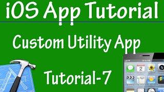 Free iPhone iPad Application Development Tutorial 7 - Customization of Utility Application in iOS