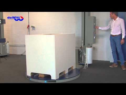 WPS Palletwikkelaar, instapmodel wikkelmachine op proef geplaatst