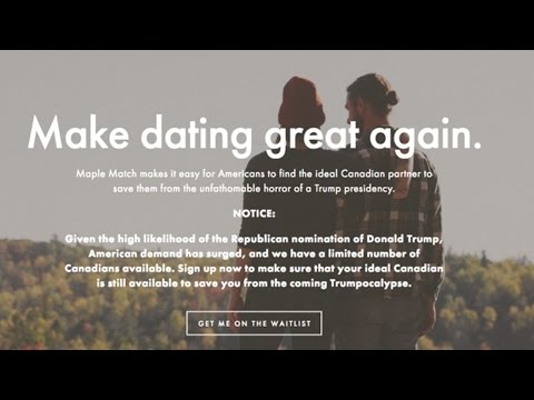 Dating Site Offers New Way To Escape Trump Presidency