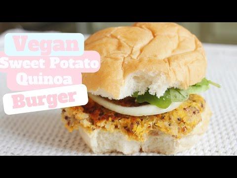 How To Make Veggie Burgers// Sweet Potato Quinoa Burger