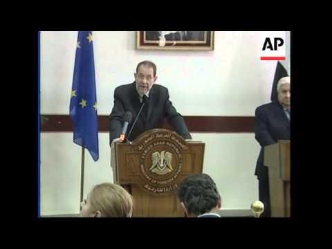 EU's Solana's talks to Syrian government about Lebanon, Syrian-EU relations
