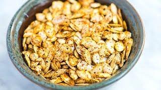 Easy Roasted Pumpkin Seeds Recipe - How to Roast Raw Pumpkin Seeds
