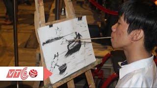 9X khuyết tật vẽ tranh bằng miệng | VTC
