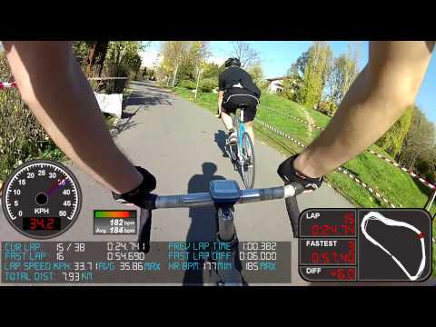 P-track Criterium 2013 - Fixie race - FPV + Telemetry