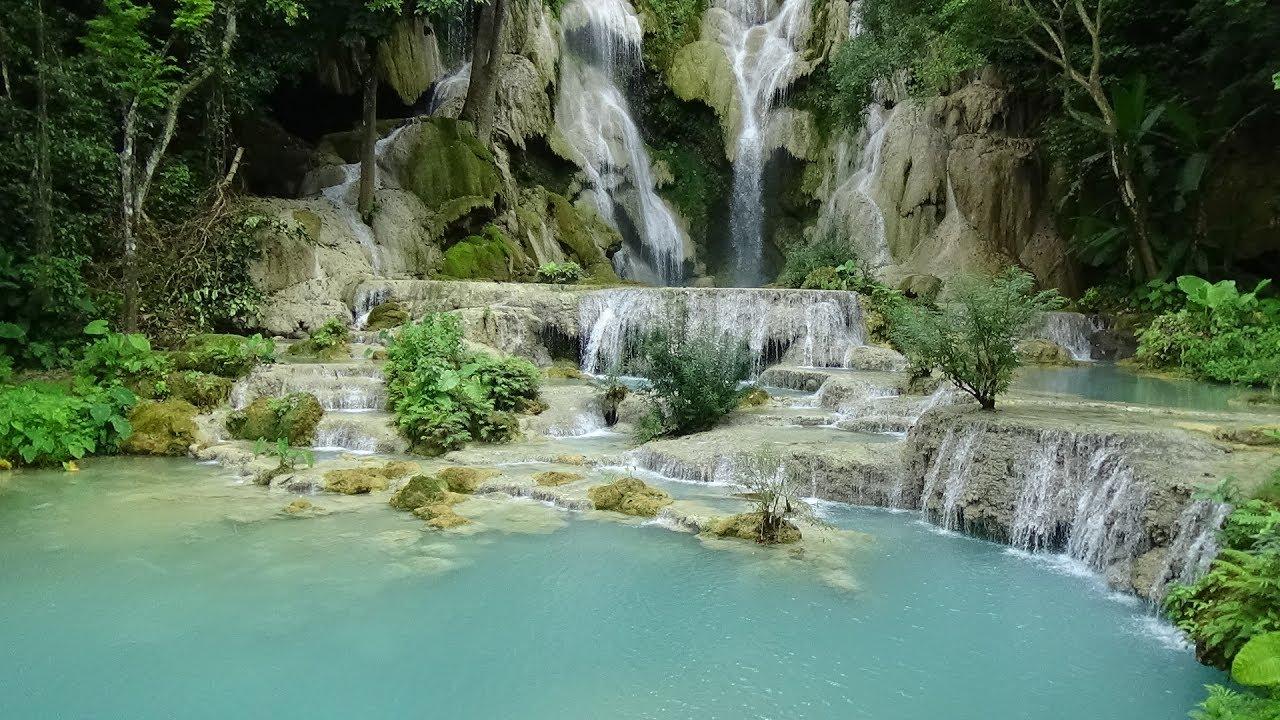 น้ำตกตาดกวางสี หลวงพระบาง (Kuang Si Waterfall Luang Prabang) - YouTube