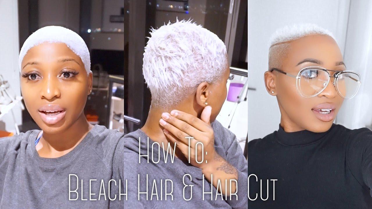 bleaching hair white silver