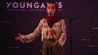 Marjan Naderi | Writing/Spoken Word | 2020 National YoungArts Week