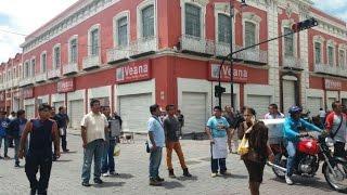 Balacera en desalojo de ambulantes del Centro Histórico #Video