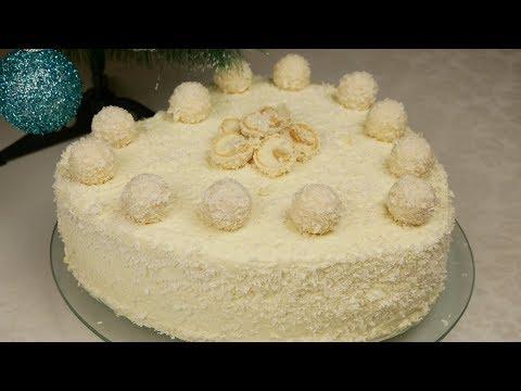 Торт Новогодний РАФАЭЛЛО. Торт на ПРАЗДНИЧНЫЙ СТОЛ, цыганка готовит. Gipsy Cuisine.