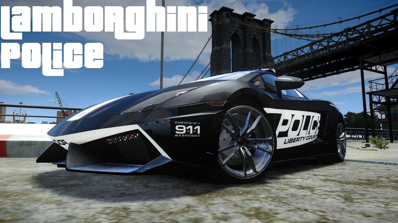 Lamborghini Police Car Crash