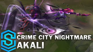 Crime City Nightmare Akali Skin Spotlight - Pre-Release - League of Legends