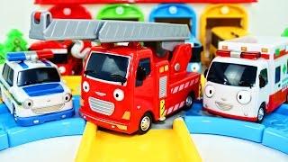 Мультик Полицейская машина. Пожарная машина.Рабочие машины. Мультики про машинки