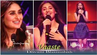 Vaaste Whatsapp Status| Dhavani Bhanushali Live|Full Screen Whatsapp Status