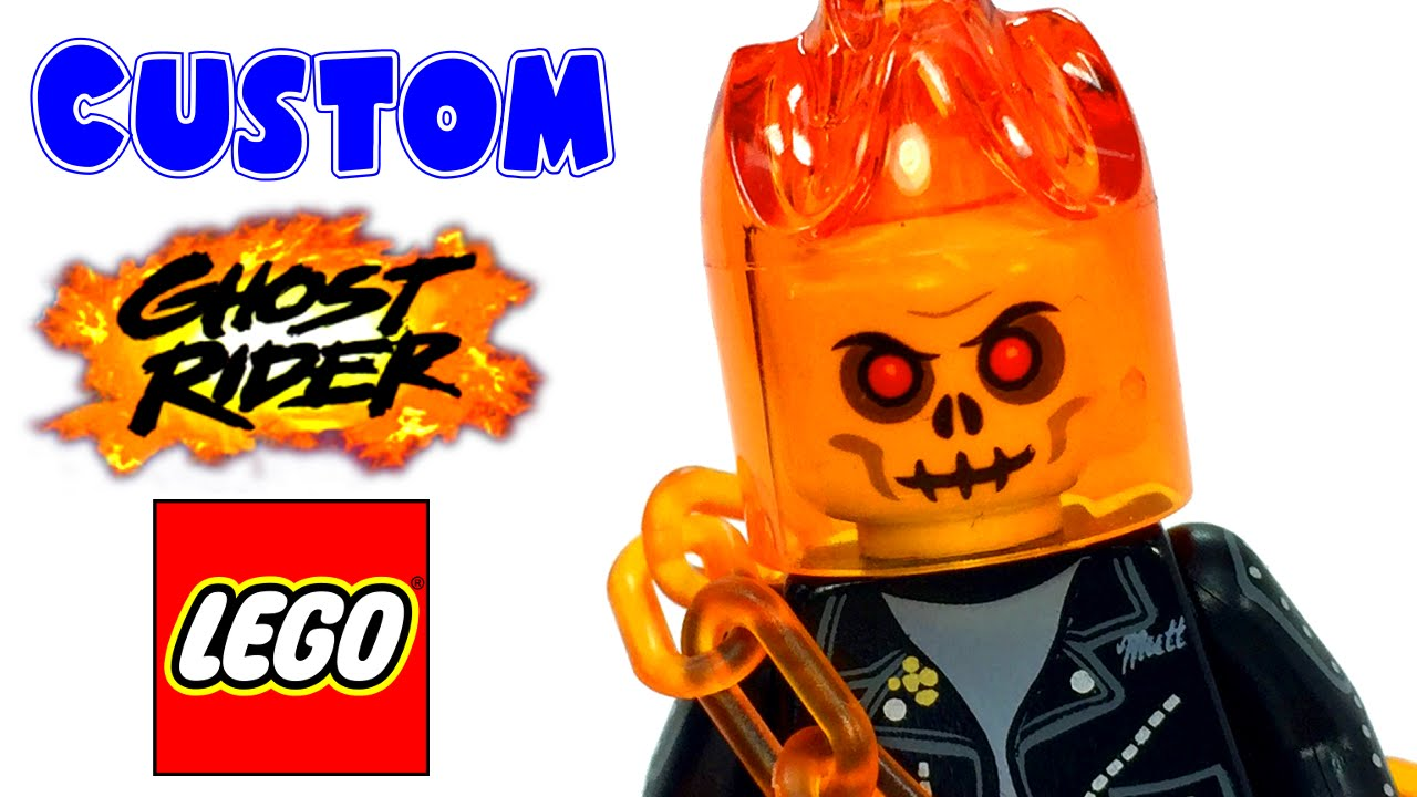 Custom Made GHOST RIDER With Motorcycle Minifigure Figure Movie TV For LEGO DC